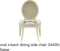 oval x-back dining side chair 3440G:Baker